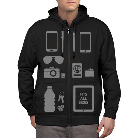 scottevest pockets hoodie