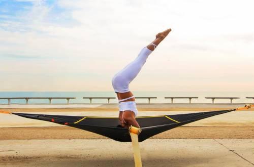 levitat yoga trampoline headstand