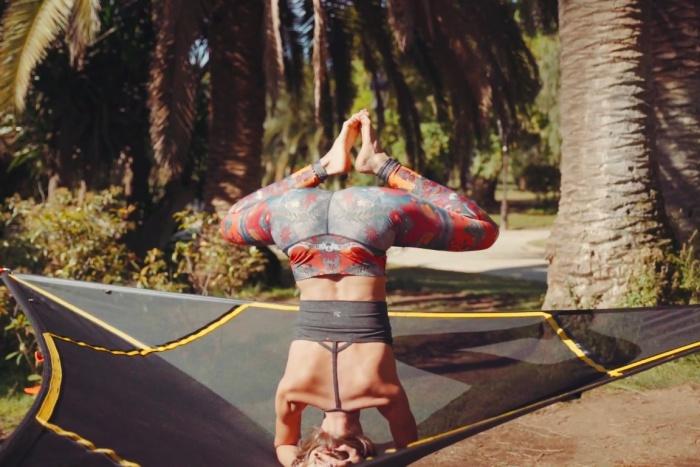 levitat aerial yoga mat headstand