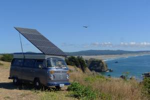 solar powered VW Bus vanlife conversion