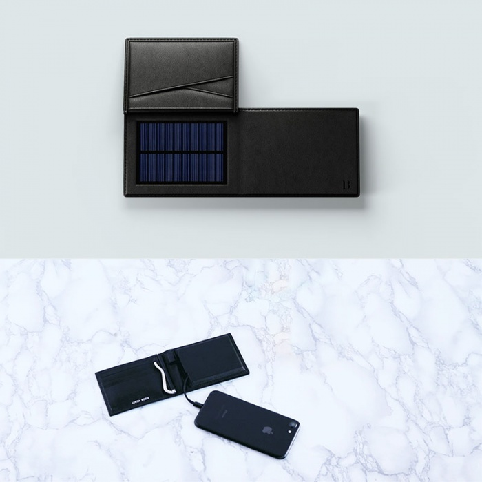 solar wallet charging phone