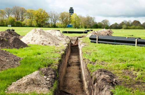 wacken beer pipeline trench
