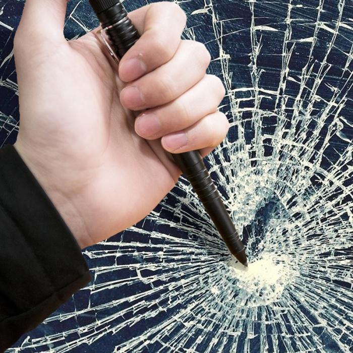 survival pen breaking glass