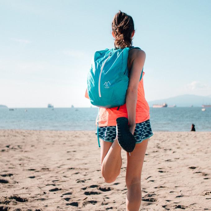 Waterproof backpack fits in pocket