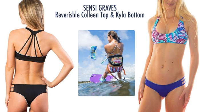 Sensi Graves active bikini surf