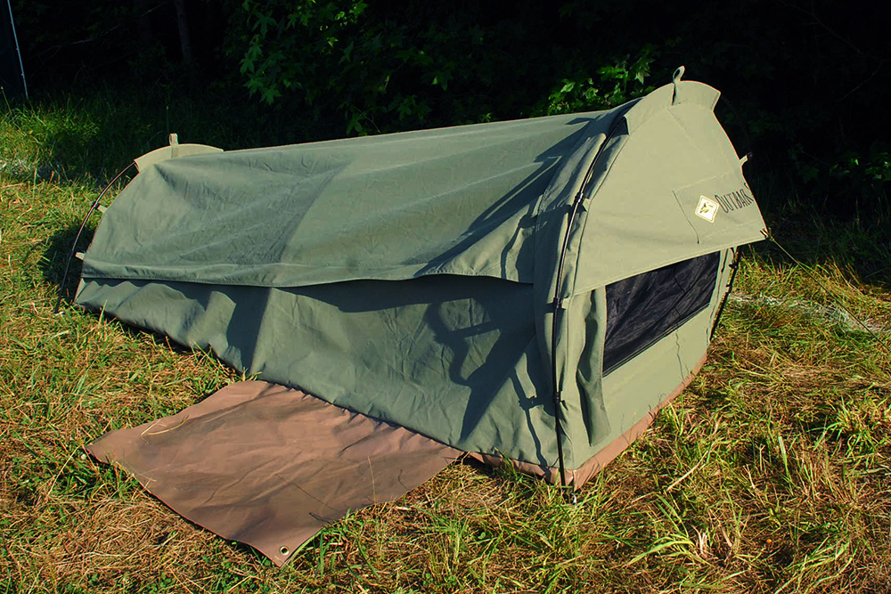 Outback swag pioneer bivvy tent review & Camp Like An Aussie: Canvas u0027Swagu0027 Tent Review