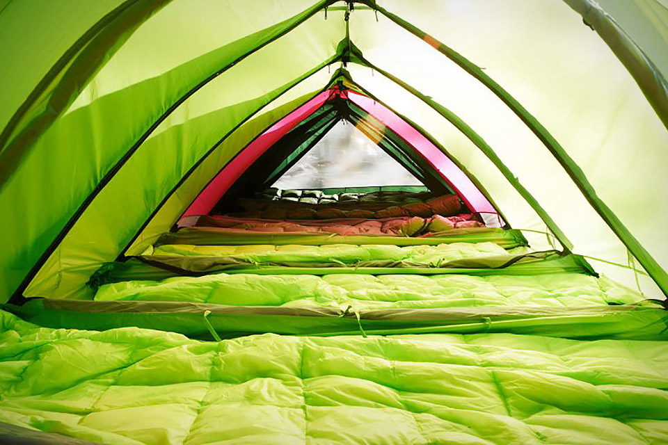 rhinowolf-modular-tent-inside & Party Tents Zip Together With Mattress Built In Floor