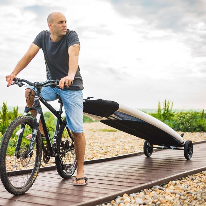 shore ride sup kayak carrier on bike