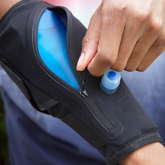 Hydration bladder on your arm