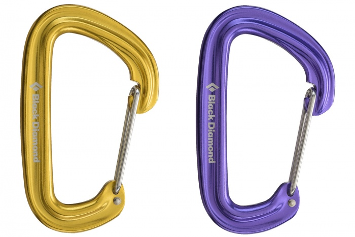 Black diamond neutrino wiregate carabiner