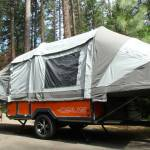 OPUS air camper trailer poleless inflate