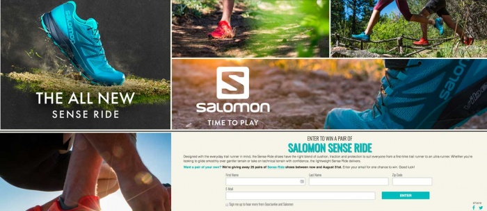 Salomon sense ride giveaway