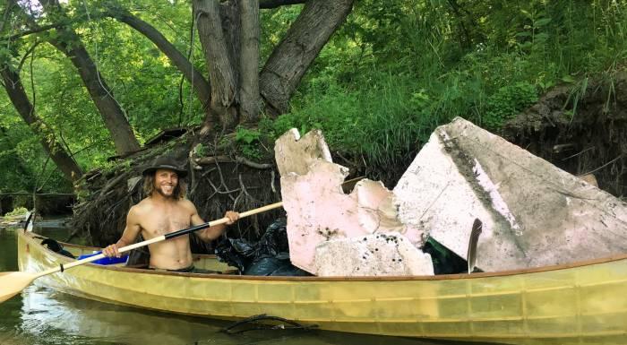 Adventure stewardship alliance canoe litter trash cleanup minnesota rivers