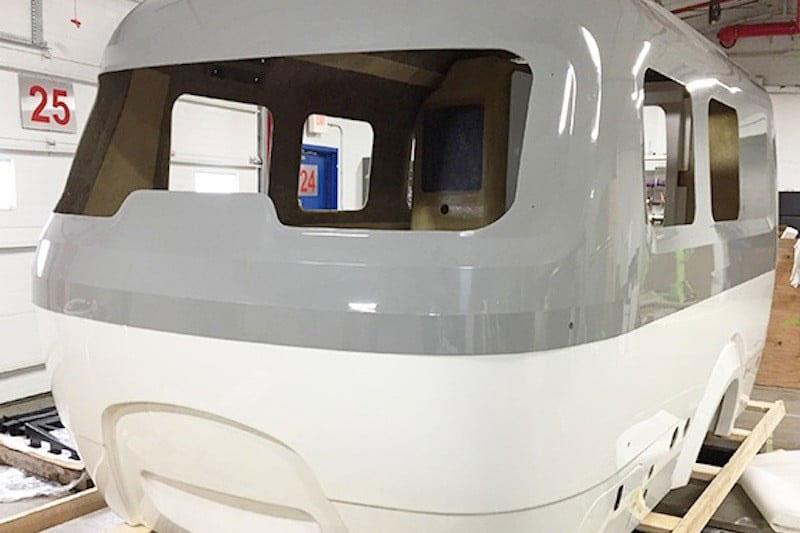 No More Metal Airstream Goes Fiberglass With Nest Camper