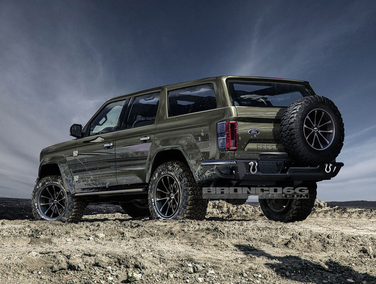 4-Door Bronco: Fan Renderings Offer Peek At Off-Road ...