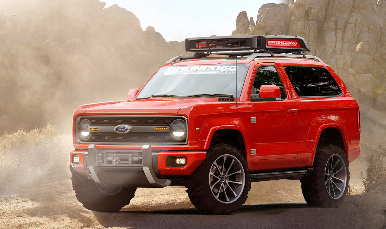 Ford bronco 2020 rendering