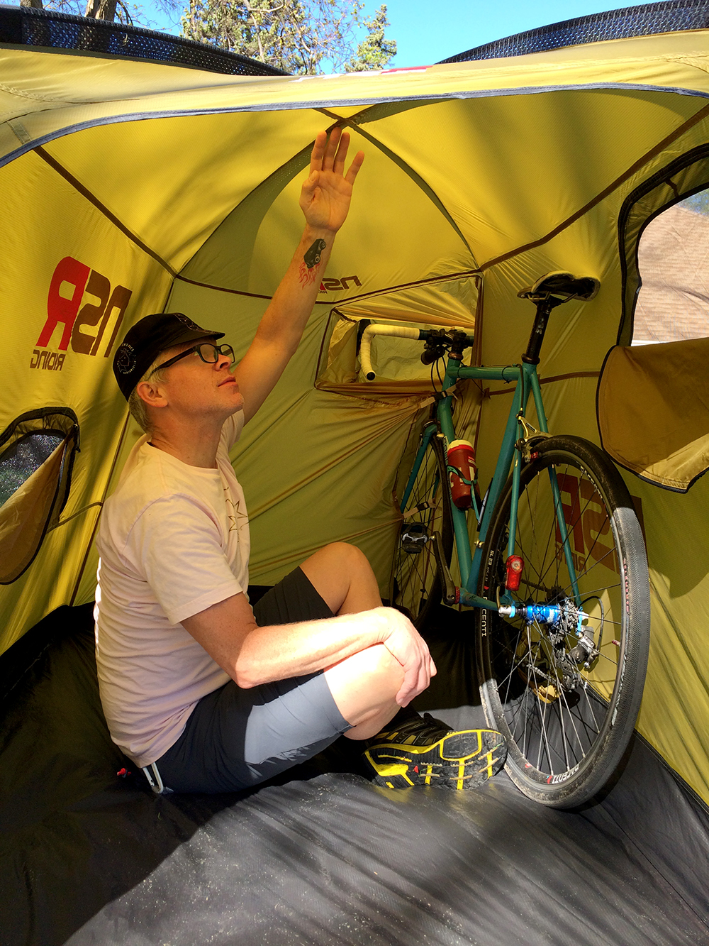 Sleep With Your Bike In This Roomy Cycling Tent Review