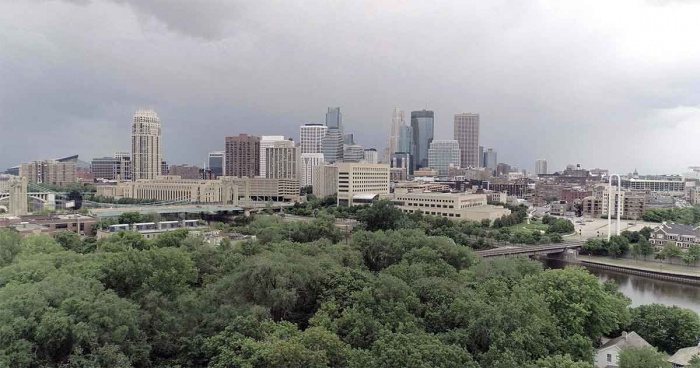 The urban forest abutting Minneapolis