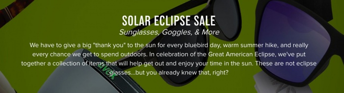 Solar Eclipse Sale