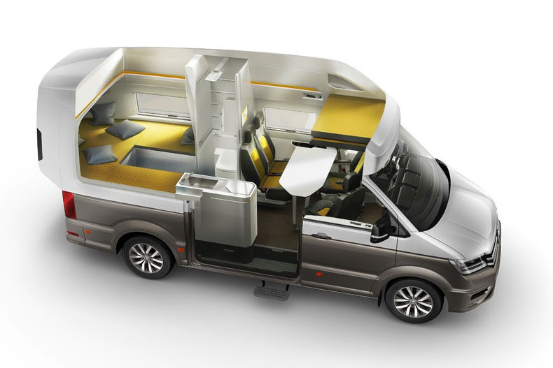 Vw Concept Van Ultimate Camper Unveiled At German
