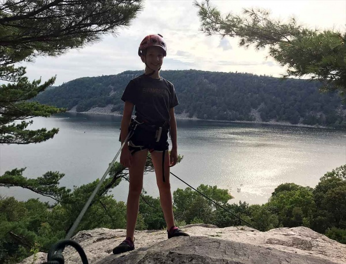 Rock climbing Devil's Lake