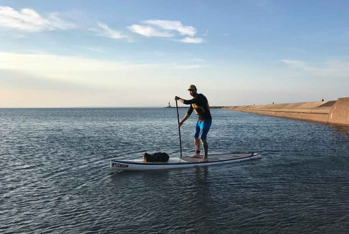 Sunrise SUP adventure on Lake Superior