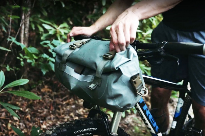 watershed mackenzie waterproof handlebar bag