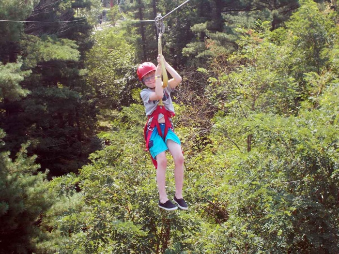 Zipline course at the Wilderness Resort