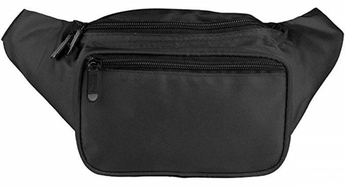 The SoJourner Fanny Pack is a plain black fanny pack. Also available in a variety of colors and patterns.