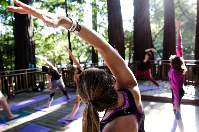 Yoga under the redwoods | Image credit Talia Touboul