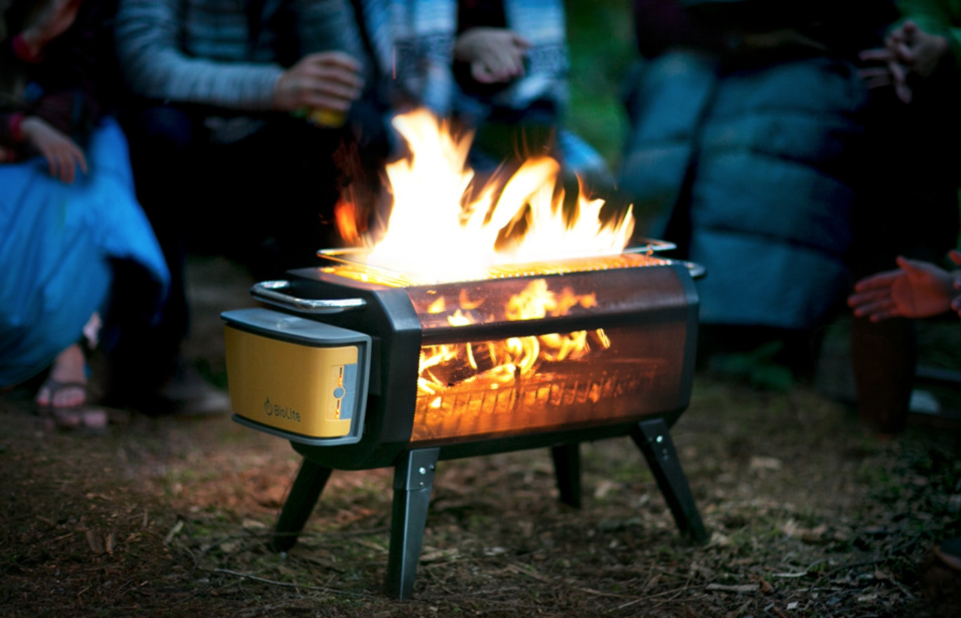 Smokeless Fire Pit Cooks Food Charges Phone Gearjunkie