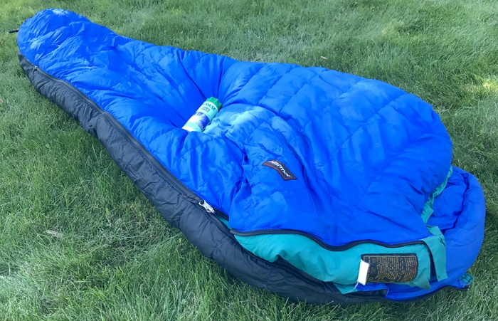How to clean a down sleeping bag