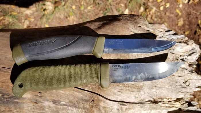 Cold Steel Finn Hawk vs Mora Companion review