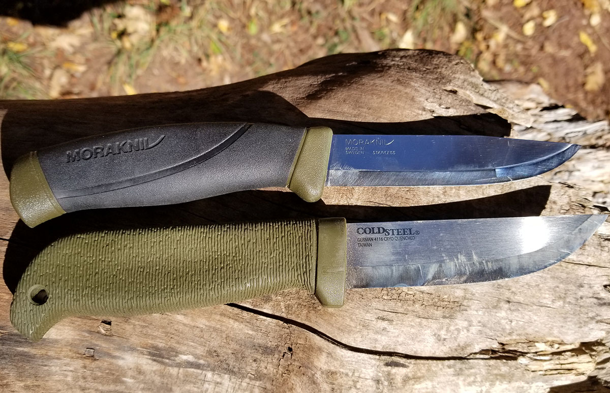 Budget Bushcraft: Cold Steel Finn Hawk vs. Mora Companion