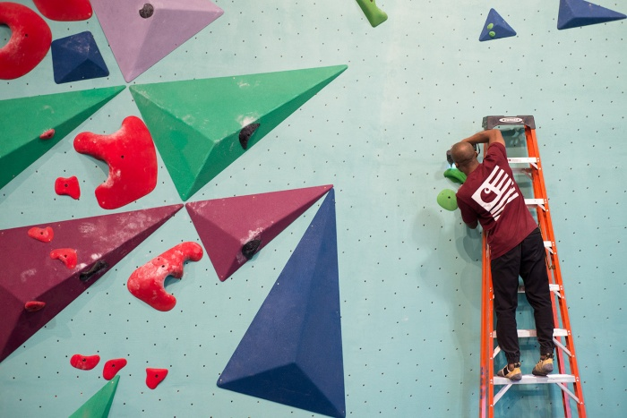 Wataaah climbing holds Minneapolis Bouldering Project