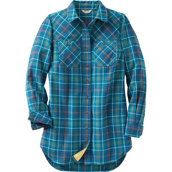 Duluth Trading Free Swingin' Flannel Tunic
