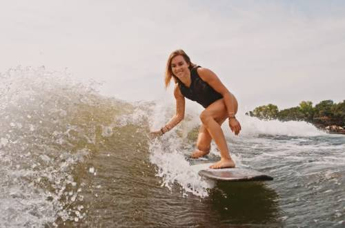 Great Urban Outdoors Morgan Lohmeier Wakesurfing