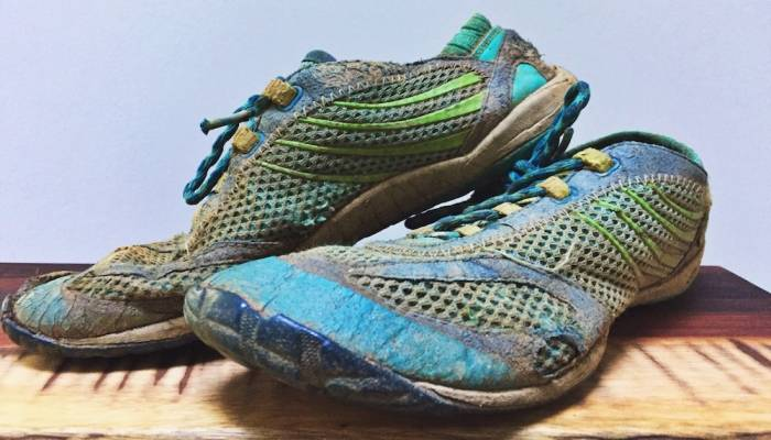 Old Merrell Pace Glove minimalist running shoes