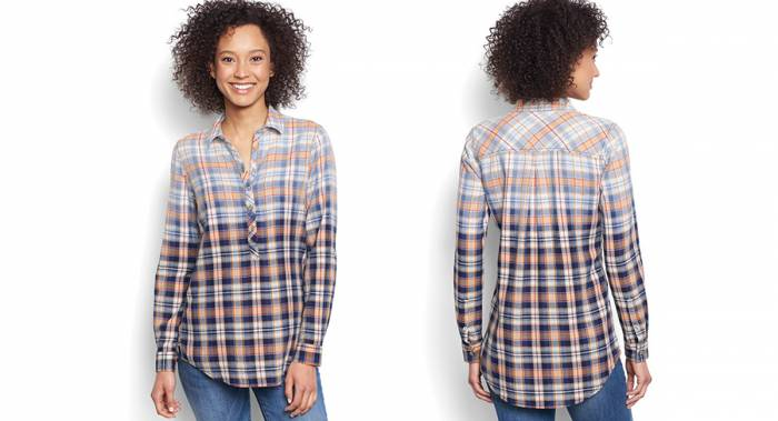 Orvis Dip Dyed Flannel Tunic - Best Women's Flannel Shirts