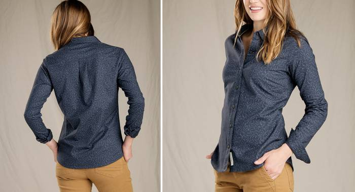 Toad & Co Lightfoot Print Long Sleeve Flannel Shirt - Best Women's Flannels