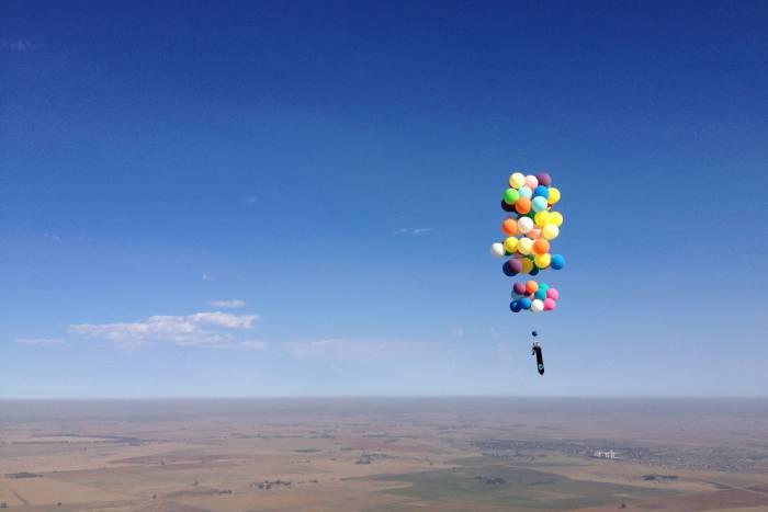 tom morgan adventurists 11 test flight helium balloons