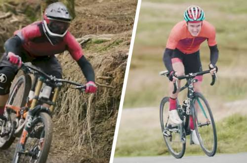 road cyclist mountain biker race