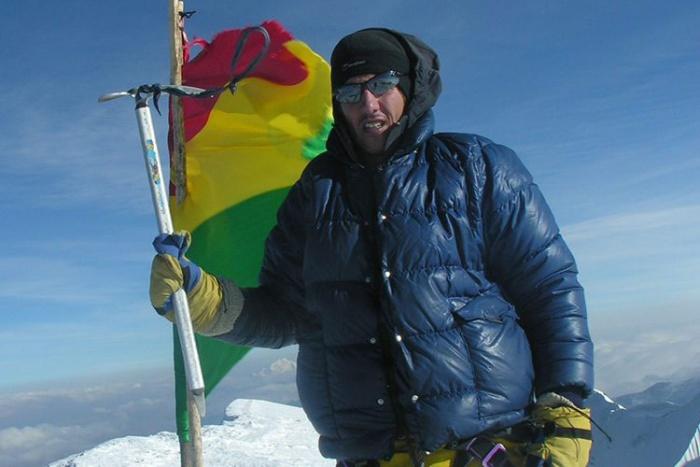 ken jones summit illimani bolivia