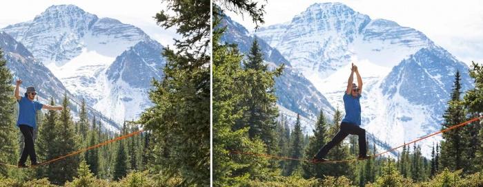 Slackline in the high alpine