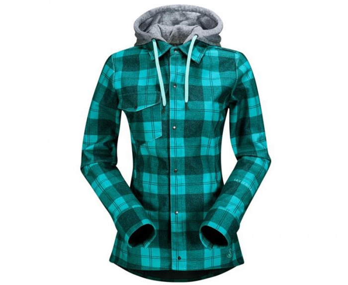 Volcom Women's Flannel Jacket with a Hood