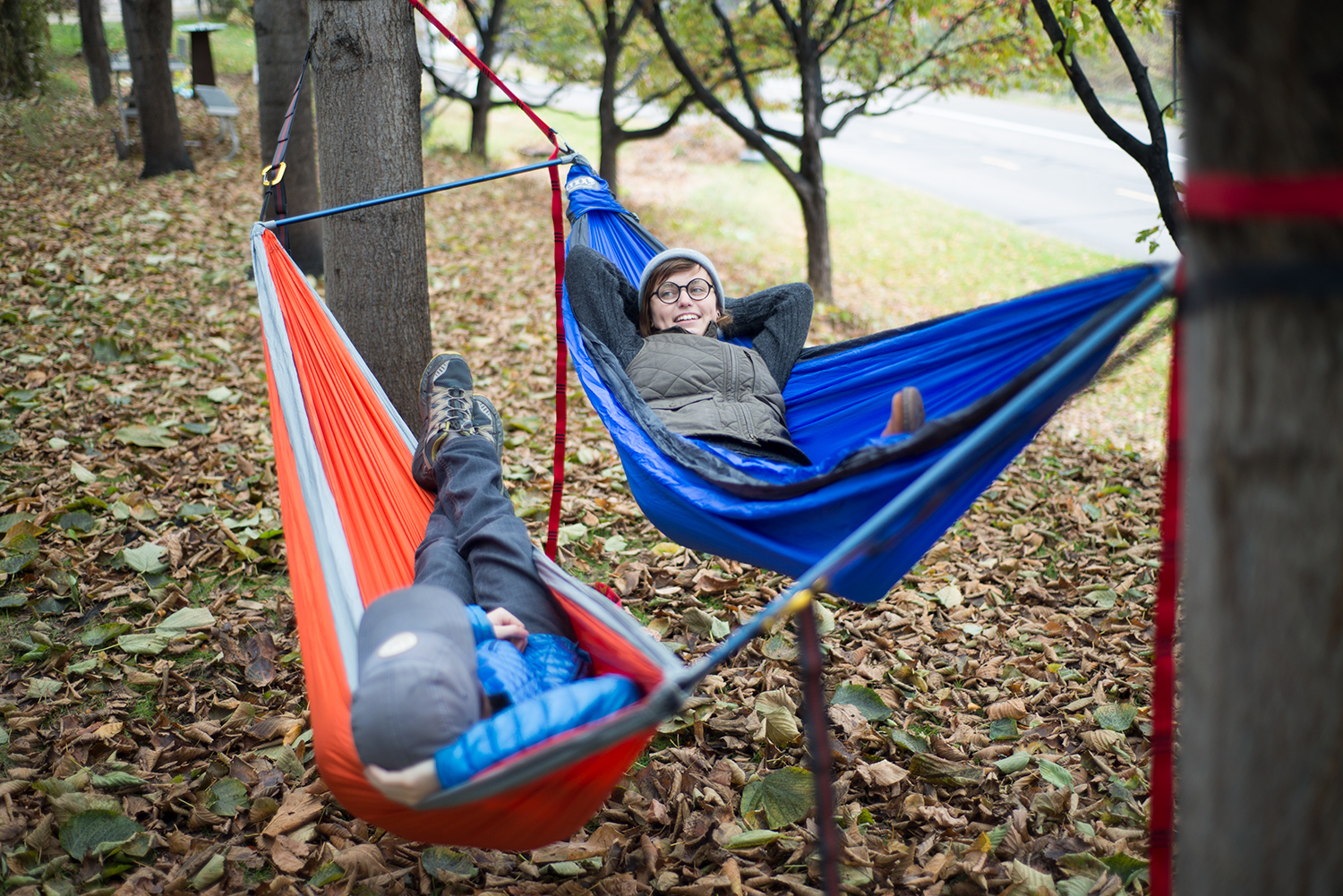 on a recent fly fishing trip in southeastern minnesota my wife and i settled on a campsite that had only two trees  normally we would have to decide     better together  eno fuse tandem hammock system review  rh   gearjunkie