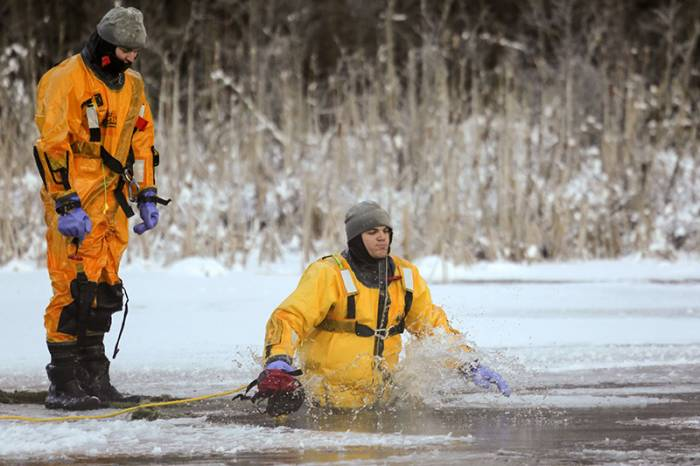 thin ice fall training