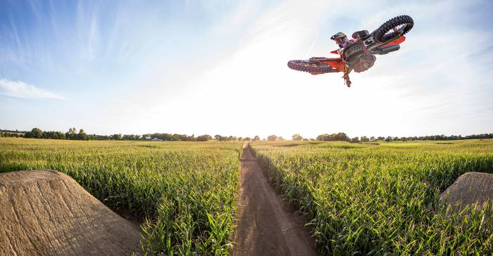 Watch: Motocross through Secret Cornfield Track