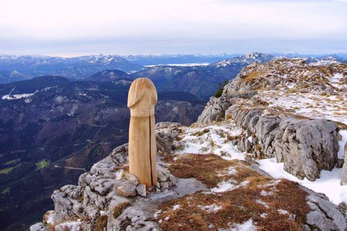 wood penis austrian alps