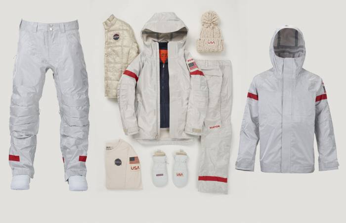 Burton Olympic Snowboard Uniform USA 2018 NASA